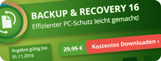 Paragon Backup & Recovery 16 - Effizienter PC-Schutz leicht gemacht