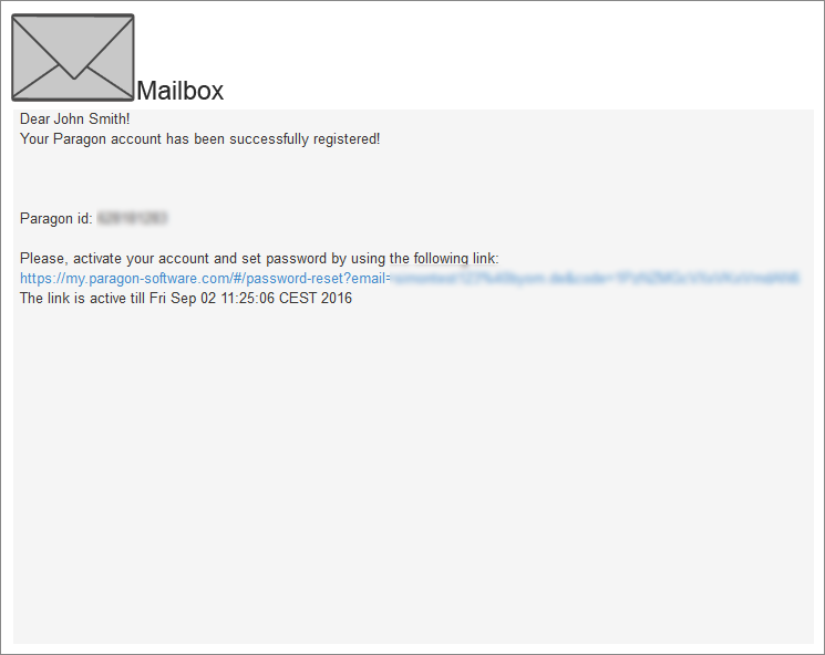 <b>Step 4:</b> Open your mailbox and set a password by using the provided link.