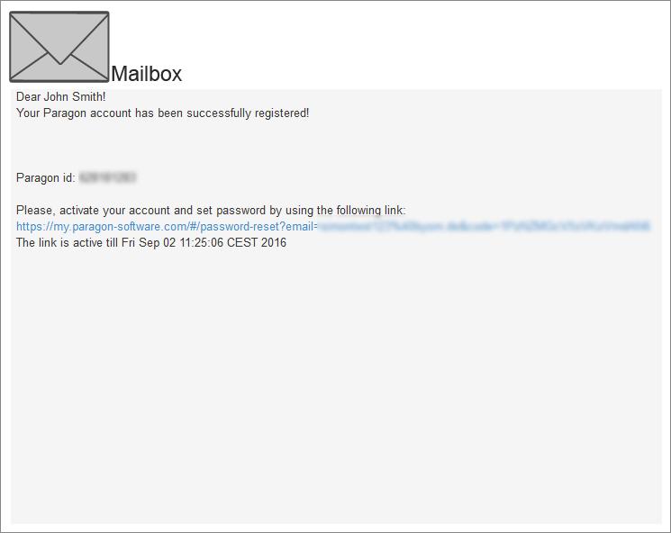 <b>Schritt 4:</b>Um Ihr Konto zu aktivieren und ein Passwort zu vergeben, klicken Sie auf den Link in der E-Mail.