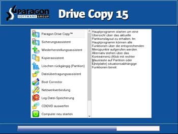 <b>Bootfähige linuxbasierte Rettungsumgebung </b><br>Die Linux/DOS Rettungsumgebung kann zum Starten Ihres Computers in Linux oder PTS DOS verwendet werden, um für Wartungs- oder Rettungsoperationen Zugriff auf Ihre Festplatte zu erhalten. Es gibt auch einen abgesicherten PTS-DOS-Modus, der Ihnen in einer Reihe von Nichtstandardsituationen, wie sich störende Hardware-Einstellungen oder schwere Probleme auf Hardware-Ebene, helfen kann. In diesem Fall werden nur grundlegende Dateien und Treiber geladen (wie Festplattentreiber, ein Bildschirmtreiber und ein Tastaturtreiber).&nbsp;
