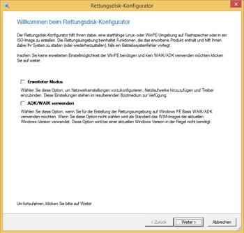 <b>Paragon Rettungsdisk-Konfigurator 3.0</b><br /> Mit dem neuen Rettungsdisk-Konfigurator 3.0 erstellen Sie für alle Betriebssystemvarianten (ab Windows XP) das richtige Rettungsmedium auf einen externen Datenträger, so dass Sie im Ernstfall ein funktionsstarkes Werkzeug auf einem externen Datenträger zur Verfügung haben. Der Programmassistent leitet durch alle Schritte und erstellt wahlweise das bootfähige Rettungsmedium auf WinPE oder Linux Basis. Ein erweiterter Modus ermöglicht das Einbinden spezieller Treiber und vorkonfigurierter Netzwerkeinstellungen.