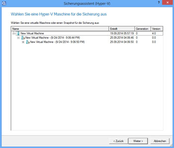 <b>Hyper-V-Backup</b> <br />Neu im Festplatten Manager 15 ist die Funktion zur agentenlosen Sicherung von MS Hyper-V Gastsystemen. Betreiben Sie z. B. einen oder mehrere Hyper-V Gastsysteme auf Ihrem Windows-Rechner, können Sie diese Systeme mit den Sicherungswerkzeugen des Festplatten Managers automatisch sichern lassen.