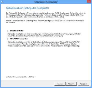 <b>Paragon Rettungsdisk-Konfigurator 3.0</b><br /> Mit dem neuen Rettungsdisk-Konfigurator 3.0 lässt sich für alle Betriebssystemvarianten (ab Windows XP) das richtige Rettungsmedium erstellen, so dass Sie im Ernstfall ein funktionsstarkes Werkzeug auf einem externen Datenträger zur Verfügung haben. Der Programmassistent leitet durch alle Schritte und erstellt wahlweise das bootfähige Rettungsmedium auf WinPE oder Linux Basis. Ein erweiterter Modus ermöglicht das Einbinden spezieller Treiber und vorkonfigurierter Netzwerkeinstellungen.