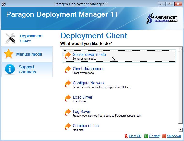 overview paragon deployment manager. Black Bedroom Furniture Sets. Home Design Ideas