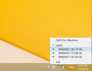 Драйвер открывается из панели задач Windows