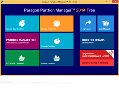 Free paragon partition manager 9. 5 professional (for a limited.
