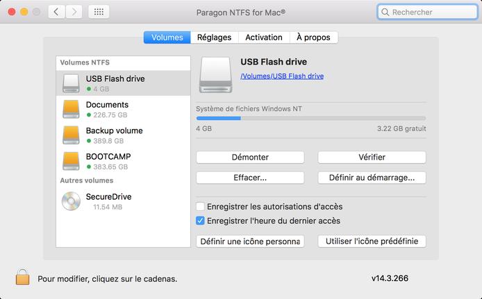 Gestion du volume NTFS