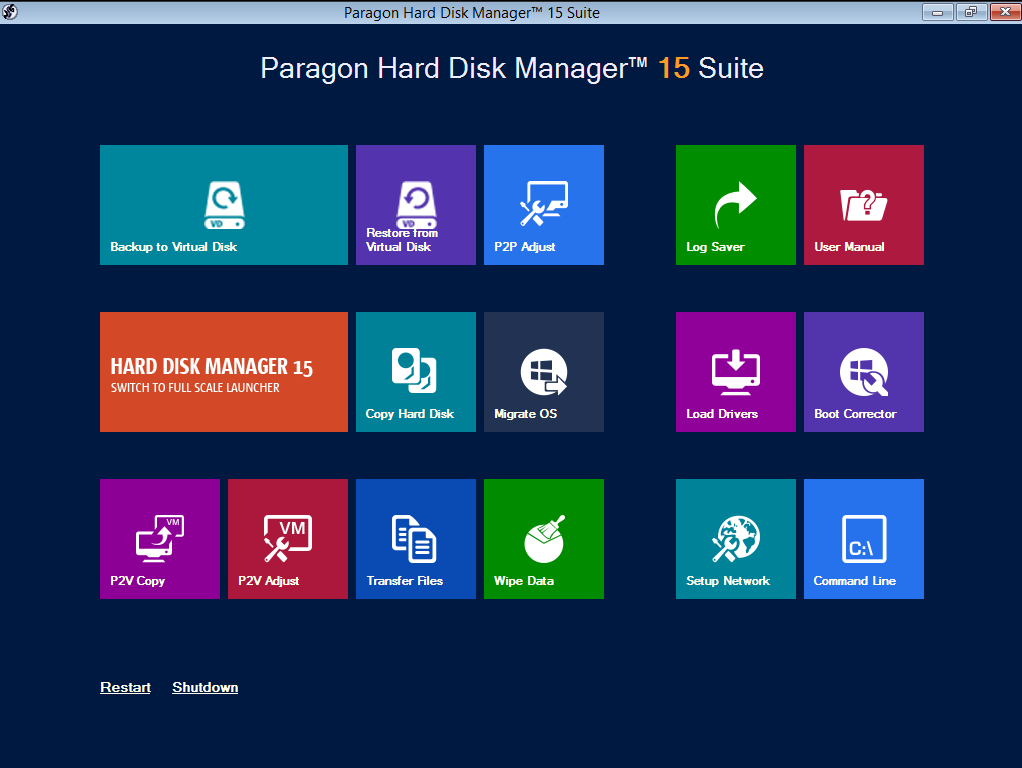 Overview Paragon Hard Disk Manager Suite