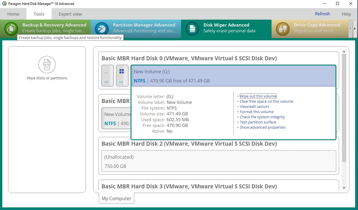 Screenshots of Disk Wiper