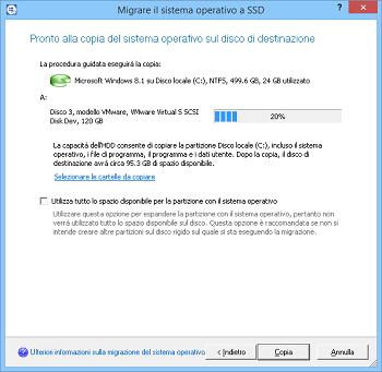 <b>Migrazione del sistema</b><br /> L'utilità per la migrazione del sistema operativo su SSD aiuta a copiare il sistema operativo, i programmi e i dati in un altro HDD o SSD.