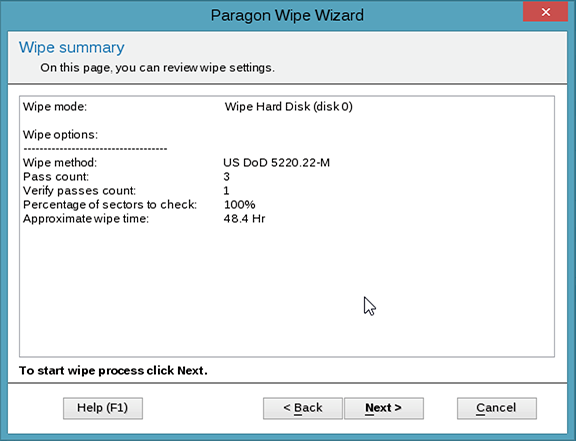 Paragon Disk Wiper 15 for Mac OS X Free - Irreversible