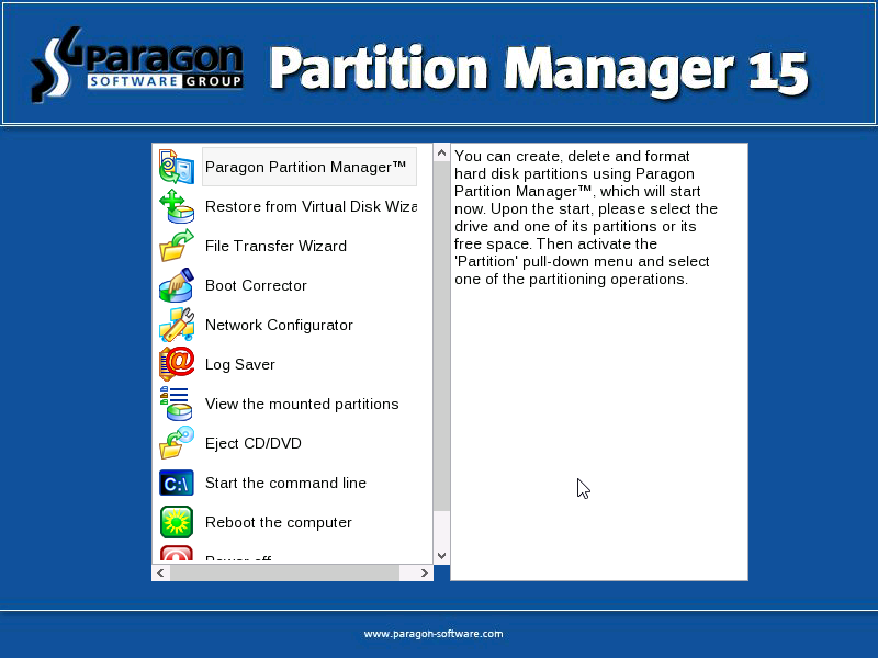 Paragon Partition Manager 15 Proven Reliability For All