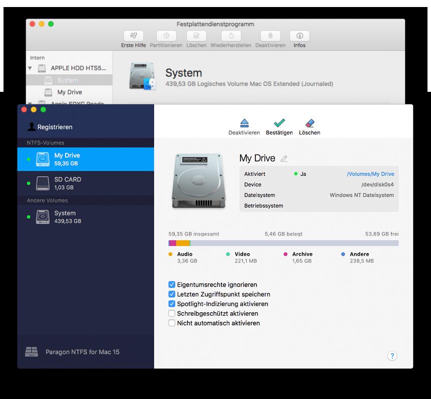 ntfs platten auf mac schreiben