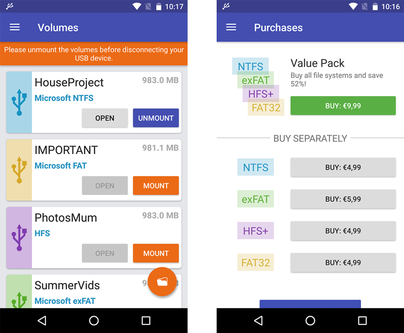 Microsoft exFAT/NTFS for Android | Paragon Software